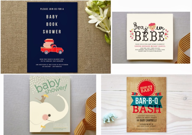 Baby shower invitations for sale at Minted.