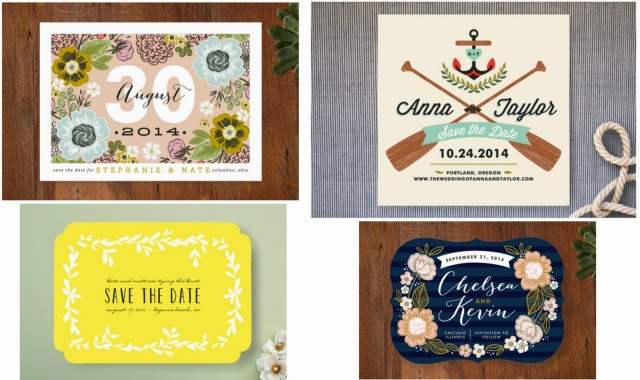 Save The Date invitations sold at Minted.