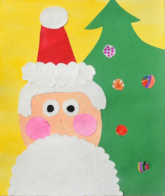 Santa artwork from Scribble Art Studio.